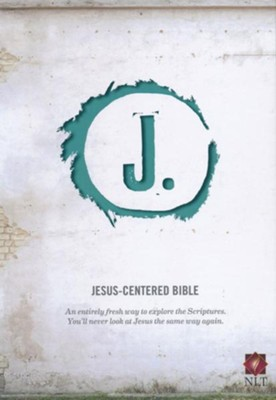 NLT Jesus Centered Bible, soft leather-look, turquoise   -