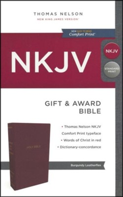 NKJV Gift and Award Bible Burgundy   -
