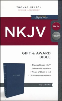 NKJV Gift and Award Bible, Blue   -