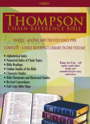 ESV Thompson Chain-Reference Bible, Black Bonded Leather  -