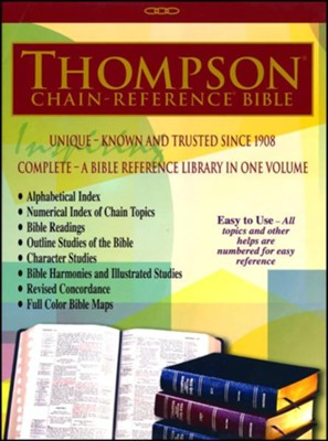 ESV Thompson Chain-Reference Bible, Black Bonded Leather, Indexed  -