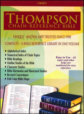 ESV Thompson Chain-Reference Bible, Burgundy Bonded Leather  -