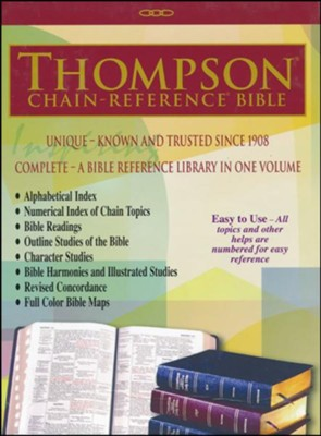 ESV Thompson Chain-Reference Bible, Burgundy Bonded Leather, Indexed  -