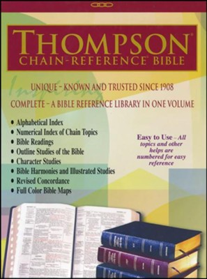 ESV Thompson Chain-Reference Bible, Burgundy Genuine Leather  -