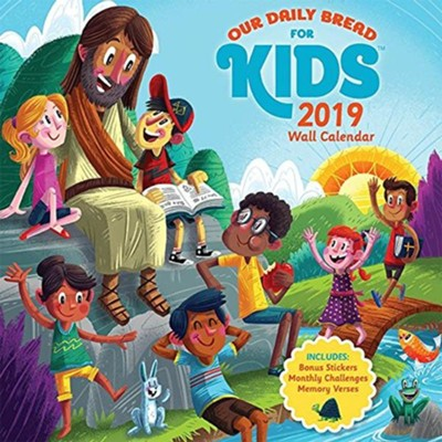 2019 Our Daily Bread For Kids Wall Calendar  -     By: Our Daily Bread     Illustrated By: Luke Flowers