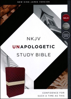 NKJV Unapologetic Study Bible, Imitation Leather, Red and Tan  -     By: Emmanuel Foundation