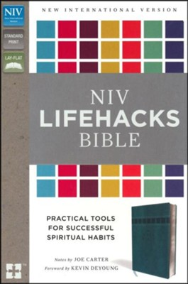 NIV Lifehacks Bible, Imitation Leather, Turquoise  -     Edited By: Joe Carter