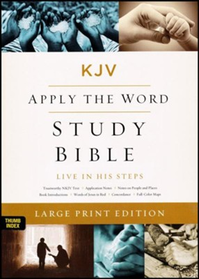 KJV Apply the Word Study Bible, Large Print, Imitation Leather, Black, Indexed  -