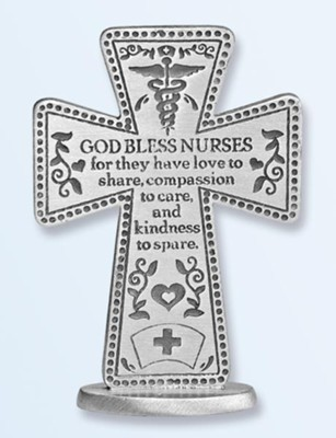 God Bless Nurses Standing Cross  -
