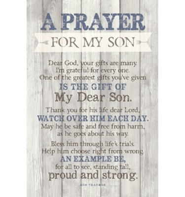 A Prayer for My Son Plaque  -