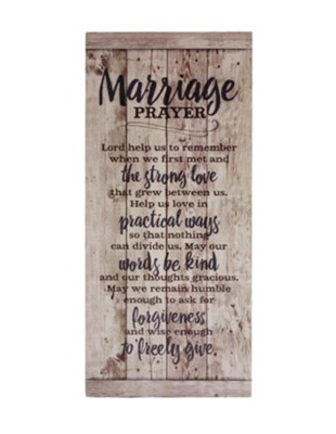 Marriage Prayer Wood Plaque  -
