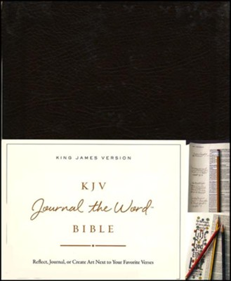 KJV Journal the Word Bible, Bonded Leather, Brown, Red Letter Edition  -