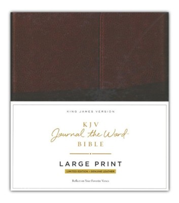 KJV Journal the Word Bible, Large Print, Premium Leather, Brown, Red Letter Edition  -