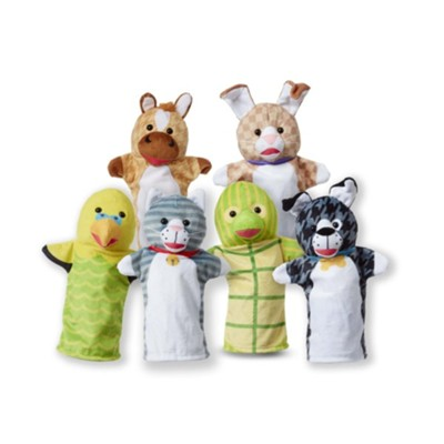 Pet Buddies Hand Puppets, 6 Pieces  -