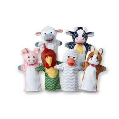 Barn Buddies Hand Puppets, 6 Pieces  -