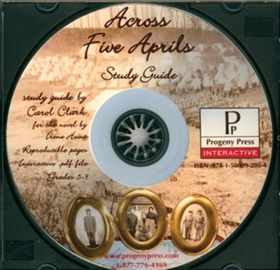 Across Five Aprils Study Guide on CDROM  -