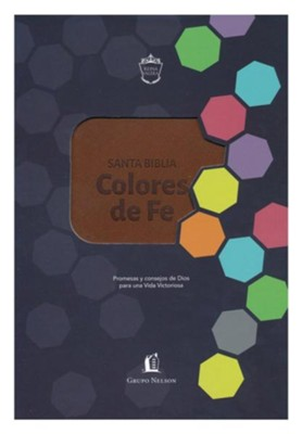 Biblia Colores de Fe RVR 1977, Piel Imit. Marrón  (RVR 1977 Faith Colors Bible, Leathersoft, Brown)  -