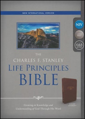 NIV, The Charles F. Stanley Life Principles Bible, Imitation Leather, Burgundy, Indexed  -     Edited By: Charles Stanley