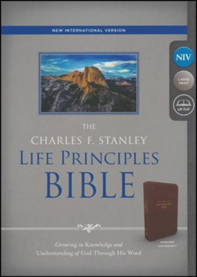 NIV, The Charles F. Stanley Life Principles Bible, Imitation Leather, Burgundy  -     Edited By: Charles Stanley