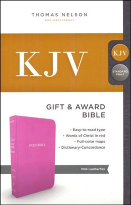 KJV, Gift and Award Bible, Imitation Leather, Pink  -