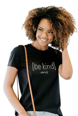 Be Kind Shirt, Black Heather, Large  -     By: Candace Cameron Bure