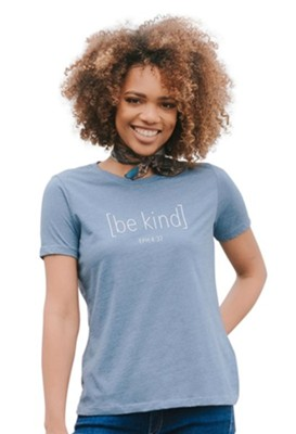 Be Kind Shirt, Blue Heather, Small  -     By: Candace Cameron Bure