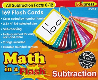 Math in a Flash Flashcards: Subtraction  -