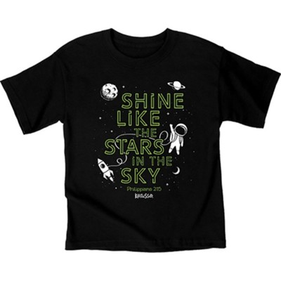 Shine Astronaut Shirt, Black, Youth Small  -