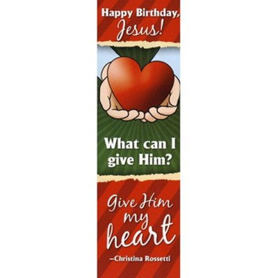 Happy Birthday Jesus! Bookmark, Pack of 25   -