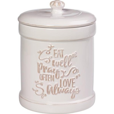 Inspirational Kitchen Canister, Ceramic  -