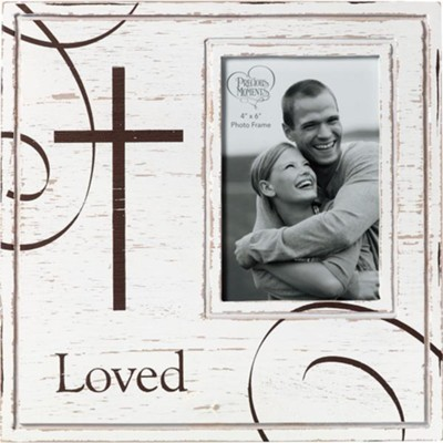 Loved Photo Frame With Cross  -