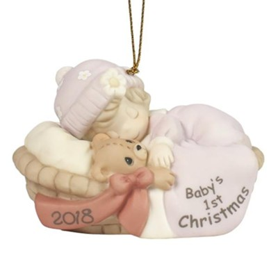 2018 Baby's First Christmas, Girl Ornament  -