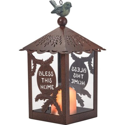 Bless This Home, LED Candle Lantern   -