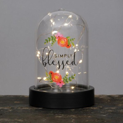 Simply Blessed Dome Lantern  -