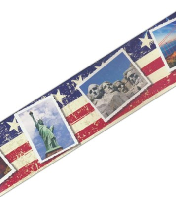 U.S. Landmarks Postcards Straight Border Trim   -
