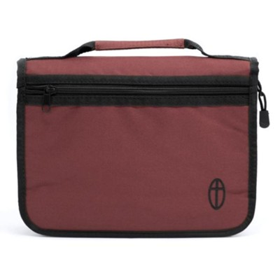 Economy Canvas Bible Cover, Burgundy, Small   -
