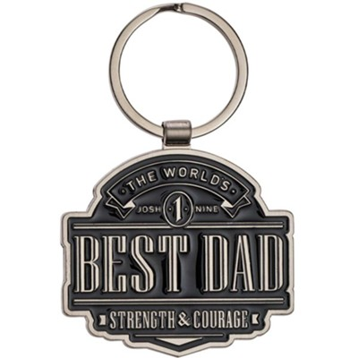 The World's Best Dad Keyring with Tin Box  -