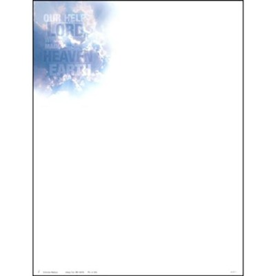 Our Help is in the Name (Psalm 124:8) Letterhead, 50  -