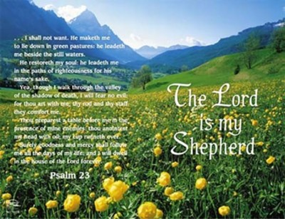 The Lord Is My Shepherd (Front & Back) Bulletins, 100   -