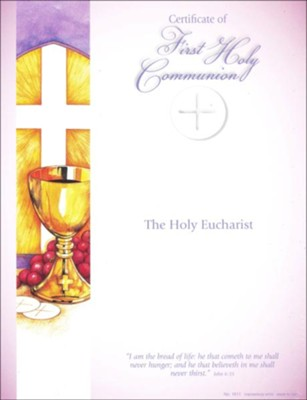 First Communion Certificates (Printer-Personalize), Pack of 25   -