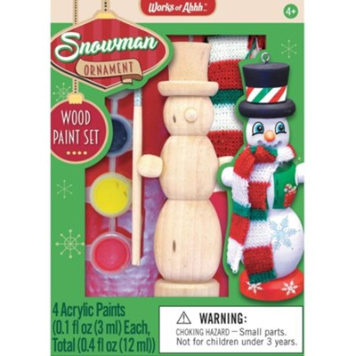 Mini Wood Paint Kit: Snowman Ornament  -