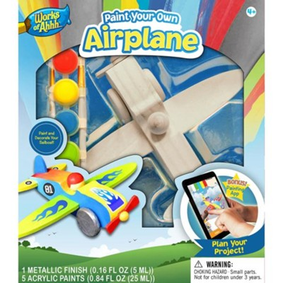 Classic Wood Paint Kit: Airplane  -
