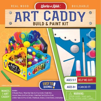 Art Caddy Build & Paint Kit  -