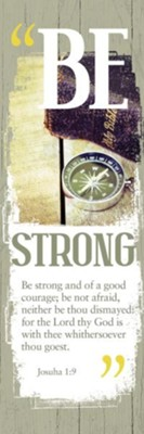 Be Strong (Joshua 1:9) Bookmarks, 25  -
