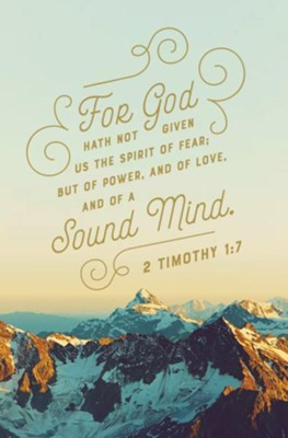 A Sound Mind (2 Timothy 1:7, KJV) Bulletins, 100   -