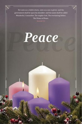 Peace (Isaiah 9:6, KJV) Advent Bulletins, 100   -