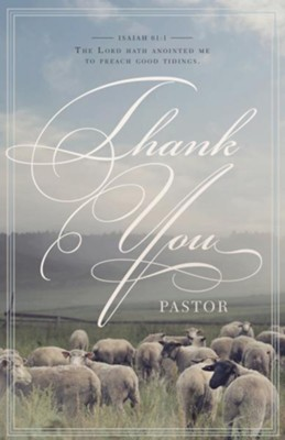 Thank You Pastor (Isaiah 61:1, KJV) Bulletins, 100   -