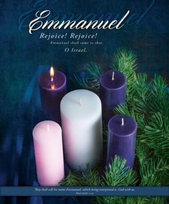 Nativity Scene Cards with Matthew 1:23 KJV 3-Pack