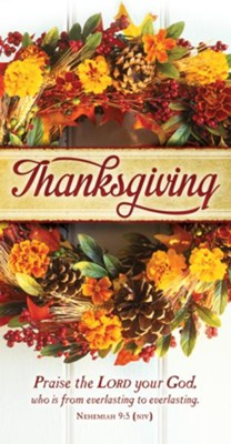 Thanksgiving Praise (Nehemiah 9:5, NIV) Offering Envelopes, 100  -