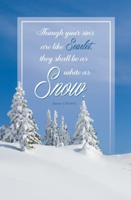White As Snow (Isaiah 1:18, NIV) Bulletins, 100  -